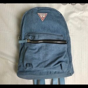 Guess mini denim backpack
